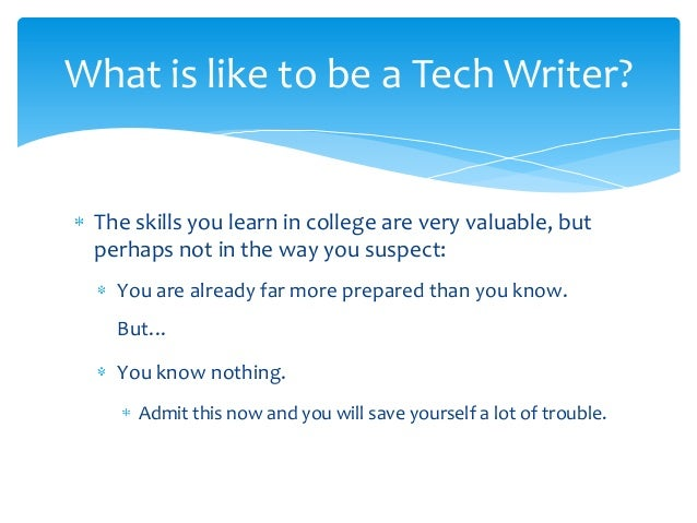 Welcome to Technical Writing 101