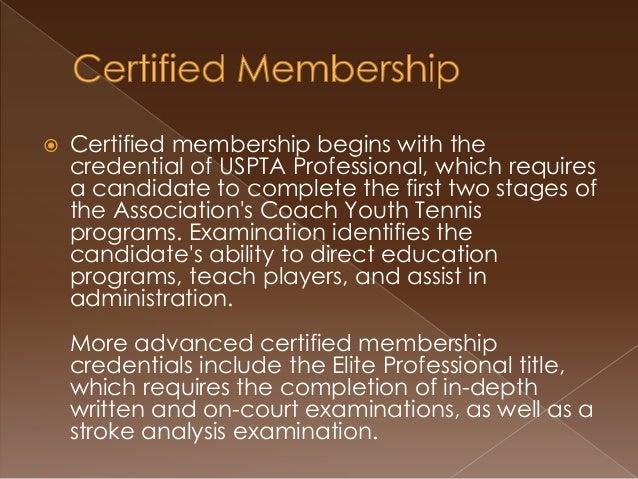 Becoming a USPTA Certified Member