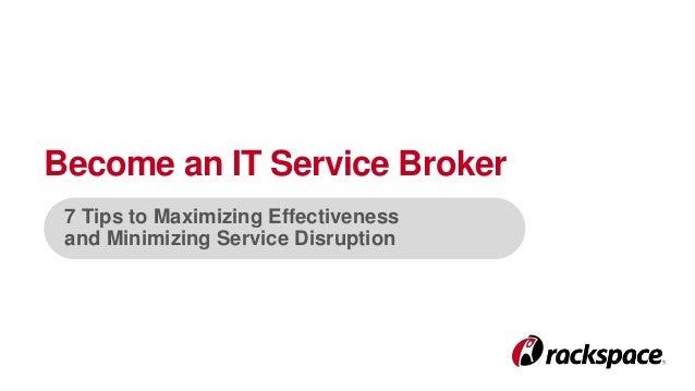 Become an IT Service Broker