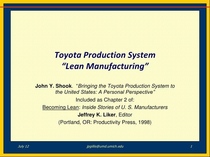 Becoming Lean John Shook Lean Manufacturing
