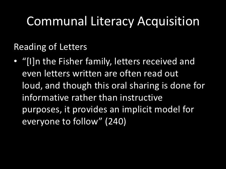 becoming literate fishman A lesson from the amish these are more advanced steps in becoming a literate member of society later when the child gains access into a school.