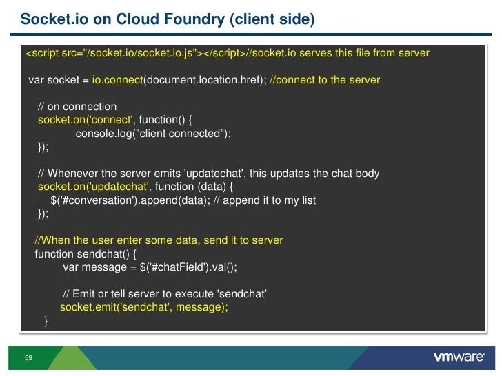 node.js chat websocket