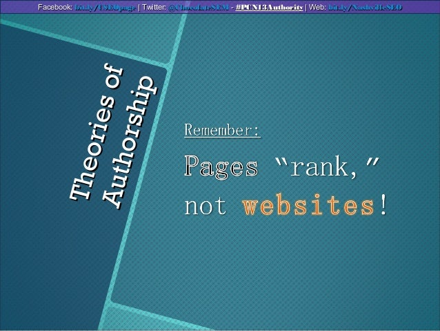 TheoriesofTheoriesofAuthorshipAuthorshipFacebook:Facebook: bit.ly/CSEOpagebit.ly/CSEOpage | Twitter:| Twitter: @ChocolateS...