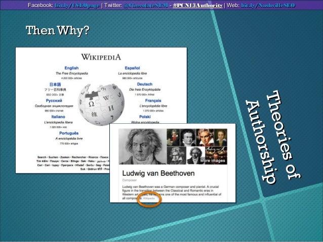 TheoriesofTheoriesofAuthorshipAuthorshipThen Why?Then Why?Facebook:Facebook: bit.ly/CSEOpagebit.ly/CSEOpage | Twitter:| Tw...