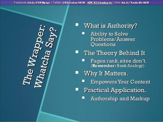 TheWrapper:TheWrapper:WhatchaSay?WhatchaSay? What is Authority?What is Authority? Ability to SolveAbility to SolveProble...