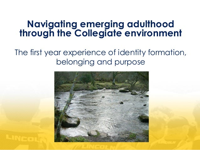 Navigating emerging adulthood through the Collegiate environment The first year experience of identity formation, belongin...