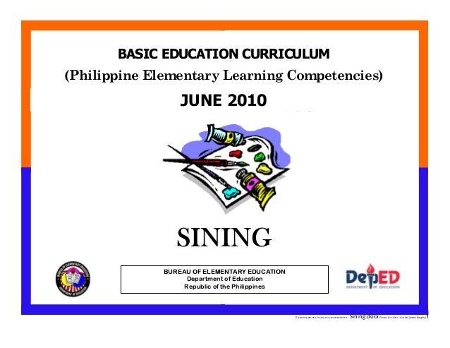 E:CDD FilesBEC-PELC Finalized June 2010COVER PELC - Sining.docxPrinted: 8/11/2010 10:36 AM [Anafel Bergado] 1 (Philippine ...