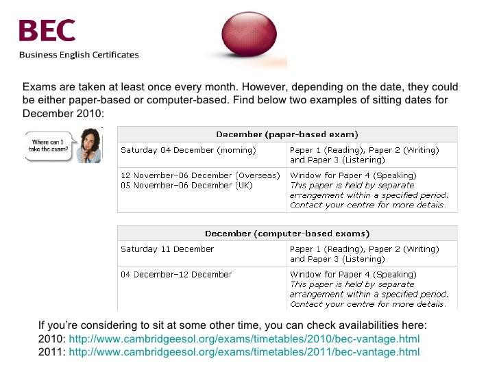 Cambridge Bec Vantage 3: (BEC Practice Tests): Cambridge ...