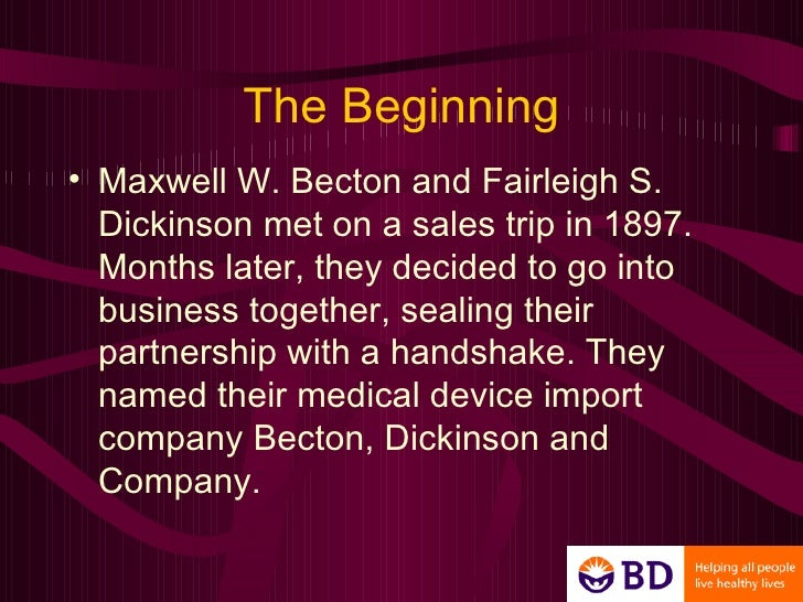 becton dickinson co vacutainer systems 1986-10-3 concerns negotiations between managers of becton dickinson's (bd) vacutainer division (which manufactures and sells blood collection products) and managers of a large hospital buying group recent changes in the health care industry are the background for the negotiations, which involve the buying.