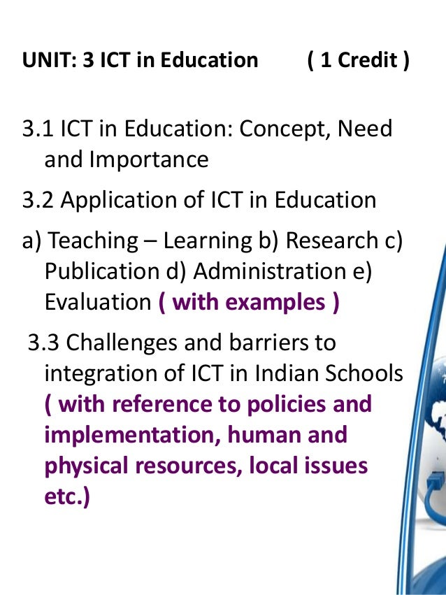 ICT in Education/The Uses of ICTs in Education