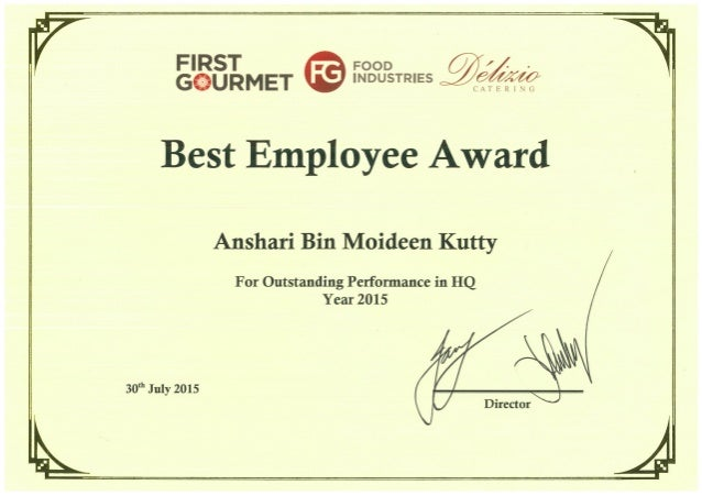 Great Job Certificates For Employee – Wonderful Image Gallery