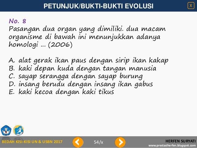 Bedah kisi kisi 2017-petunjuk evolusi