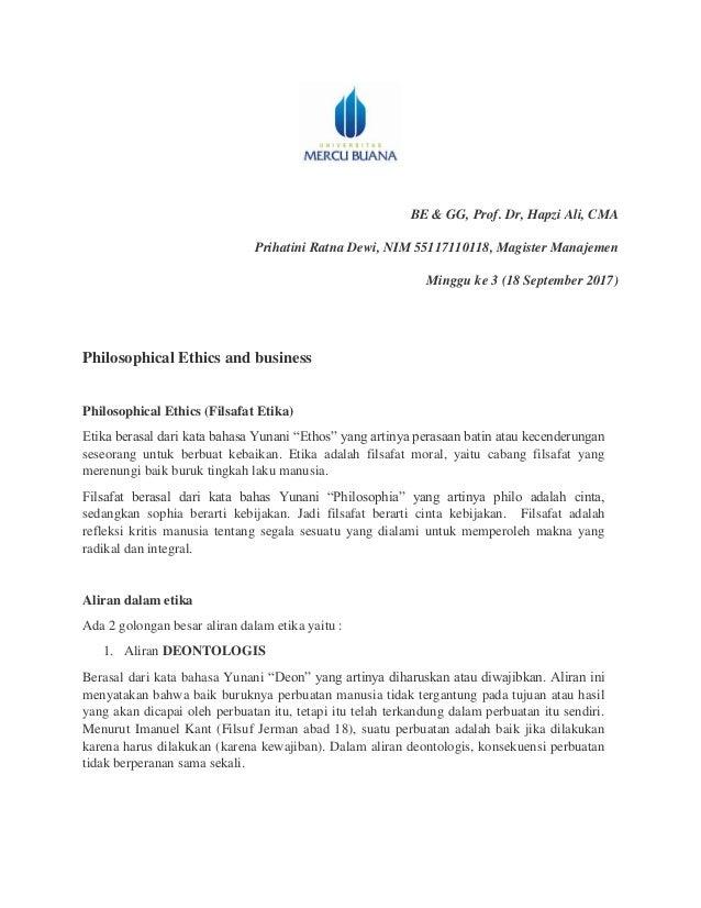 Be Dan Gg Prihatini Ratna Dewi Hapzi Ali Implementasi Philosophica