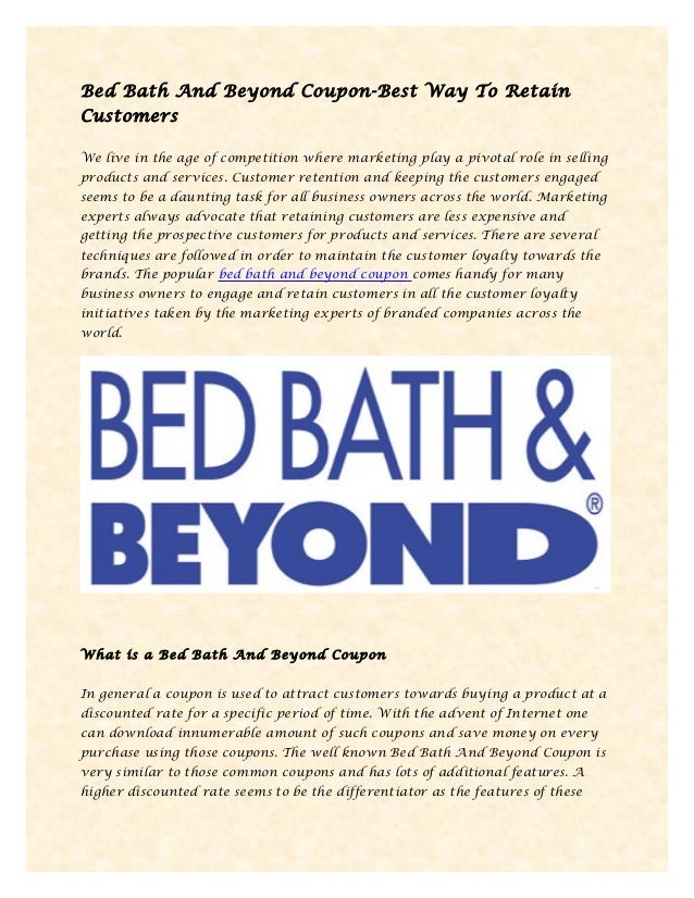 bed bath and beyond coupon bed bath and beyond best way to retain customers 21161 | bed bath and beyond coupon best way to retain customers 1 638
