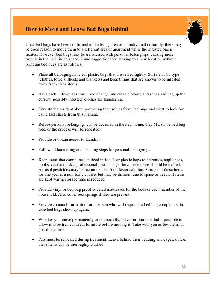 Bed Bug Guidelines For Shelters And Group Living Facilities