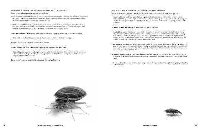 Gdph Bed Bug Handbook 2012