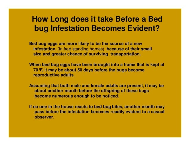 How long does it take for bed bugs to die 28 images for How long does it take to build a new house