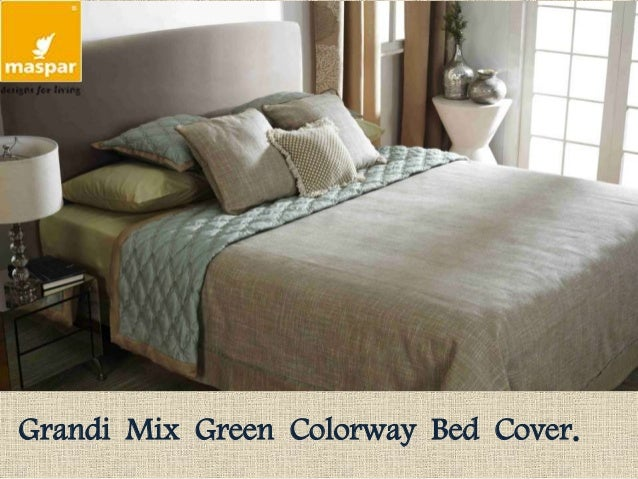 Superieur Grandi Mix Green Colorway Bed Cover.