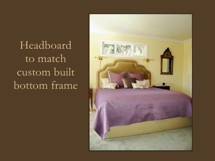 Headboard to match custom built bottom frame