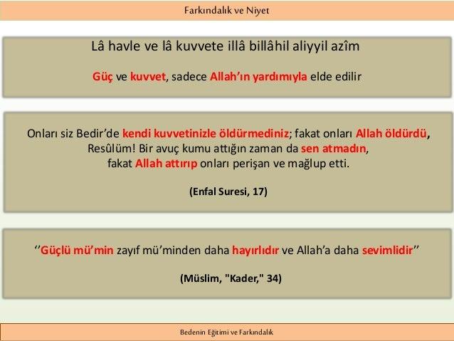 Bedenin Egitimi ve Farkindalik - İslam ve Spor Slide 2