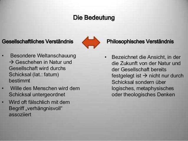 Fatalismus - Bedeutungsgeschichte Slide 3