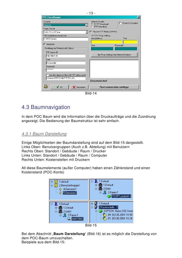 - 13 -                                           Bild-14   4.3 Baumnavigation In dem POC Baum wird die Information über di...