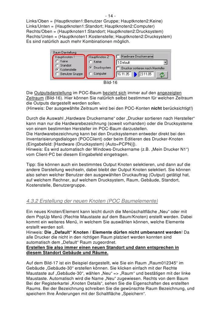 - 14 - Links/Oben = (Hauptknoten1:Benutzer Gruppe; Hauptknoten2:Keine) Links/Unten = (Hauptknoten1:Standort; Hauptknoten2:...