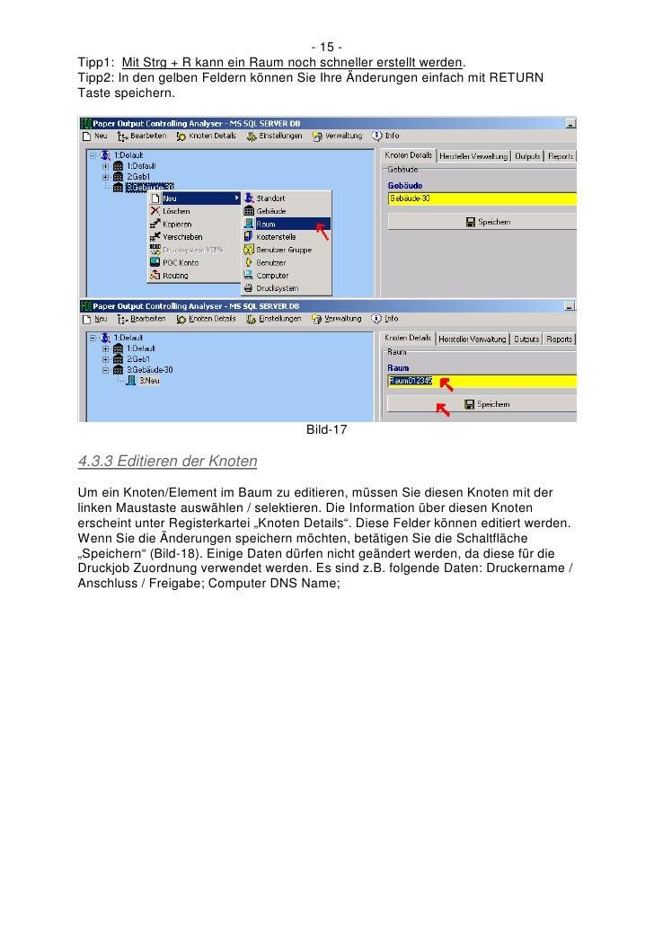 - 15 - Tipp1: Mit Strg + R kann ein Raum noch schneller erstellt werden. Tipp2: In den gelben Feldern können Sie Ihre Ände...