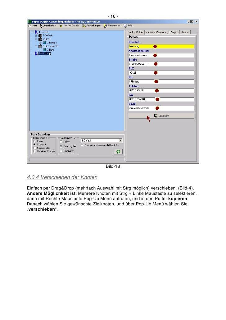 - 16 -                                          Bild-18  4.3.4 Verschieben der Knoten Einfach per Drag&Drop (mehrfach Ausw...