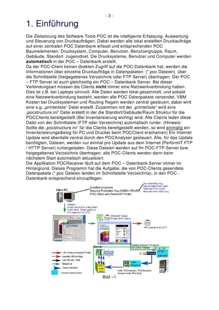 -3-  1. Einführung Die Zielsetzung des Software Tools POC ist die intelligente Erfassung, Auswertung und Steuerung von Dru...
