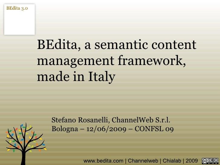 BEdita Confsl09 Slides