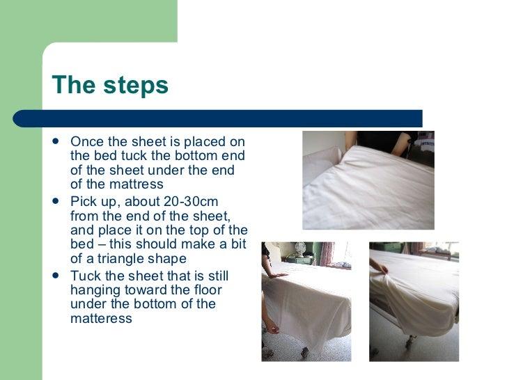 bed making procedure in hotel pdf
