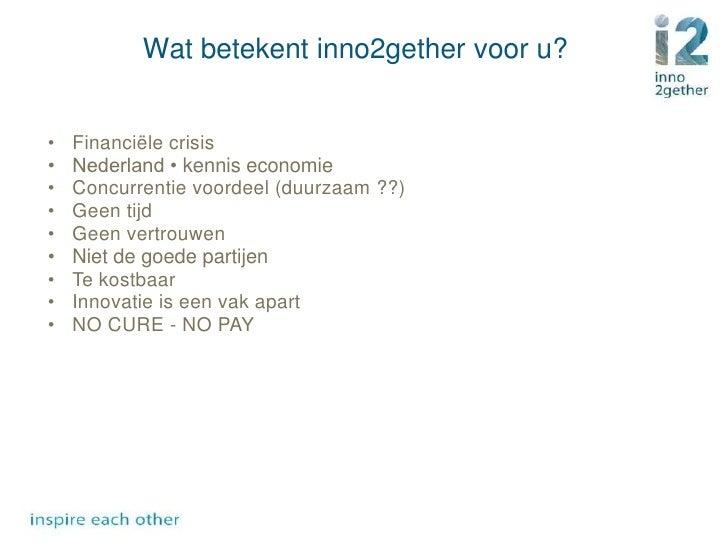Bedrijfspresentatie Inno2gether Slide 3