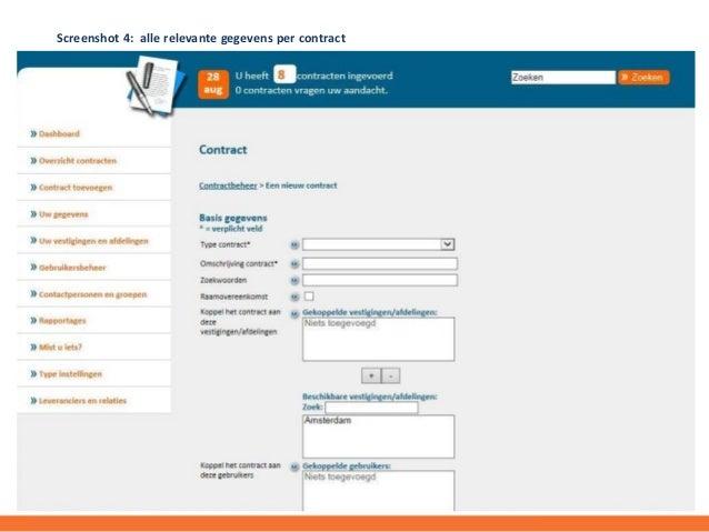 pactum over toegevoegde waarde van contractbeheer