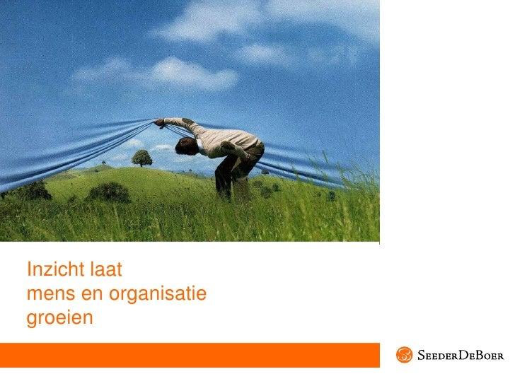 Inzicht laatmens en organisatiegroeien<br />