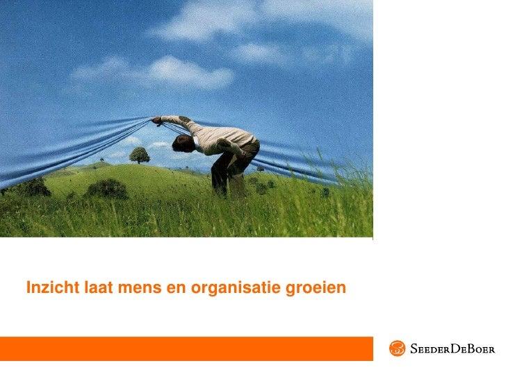 Inzicht laat mens en organisatie groeien<br />