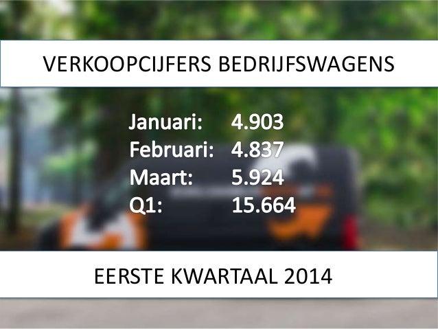 VERKOOPCIJFERS BEDRIJFSWAGENS EERSTE KWARTAAL 2014