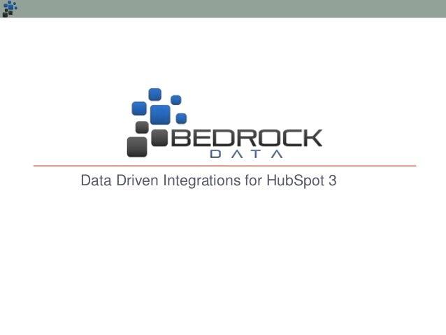 Data Driven Integrations for HubSpot 3