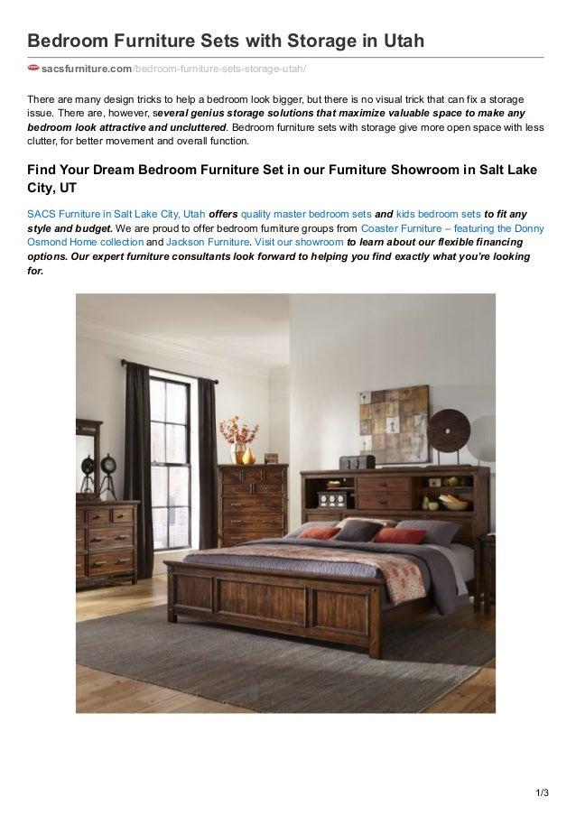 Bedroom furniture sets with storage in utah