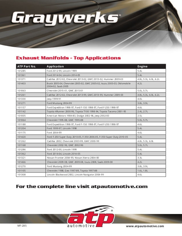 ATP Automotive Graywerks 101105 Exhaust Manifold