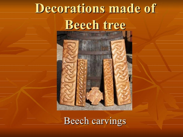 Decorations made of Beech tree Beech carvings