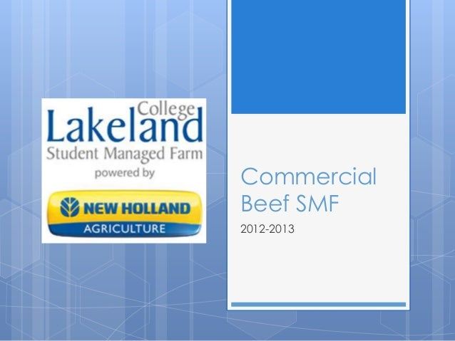 Commercial Beef SMF 2012-2013