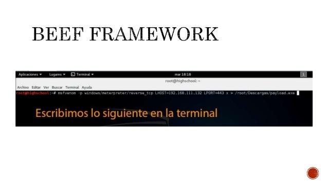  En una terminal ejecutamos el Metasploit framework como se muestra a continuación