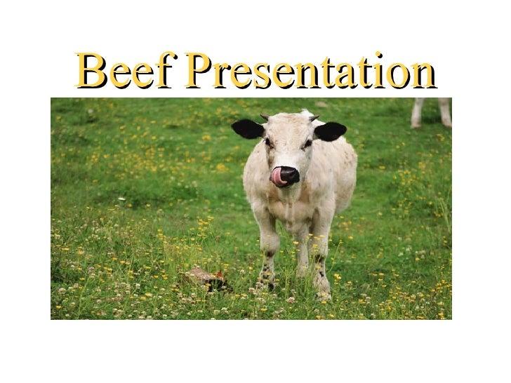 Beef Presentation