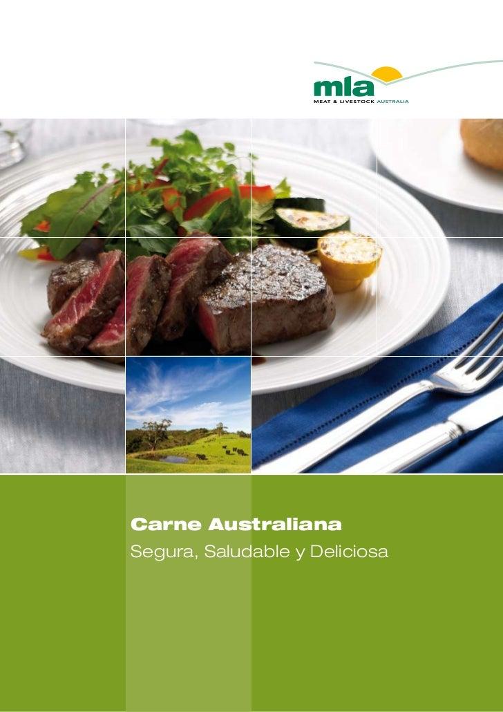 Carne AustralianaSegura, Saludable y Deliciosa