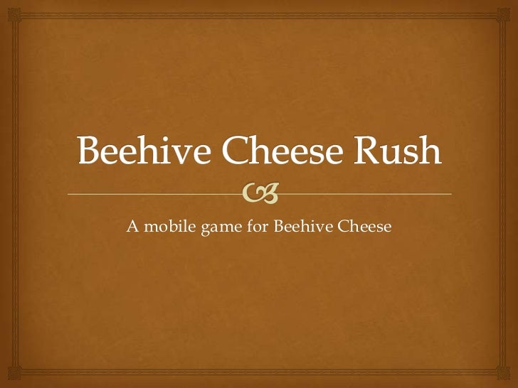 A mobile game for Beehive Cheese