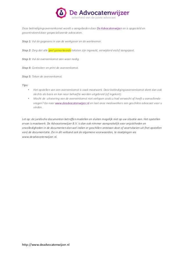 voorbeeld ontslagbrief wederzijds goedvinden Voorbeeldbrief opzegging arbeidscontract  De Advocatenwijzer voorbeeld ontslagbrief wederzijds goedvinden