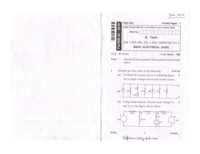 Basic Electrical Engineering Jan 2013