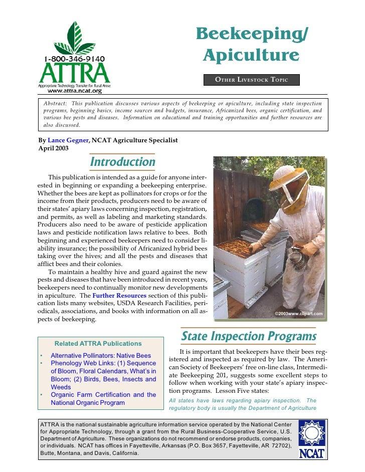 Beekeeping/                                                                 Apiculture                                    ...