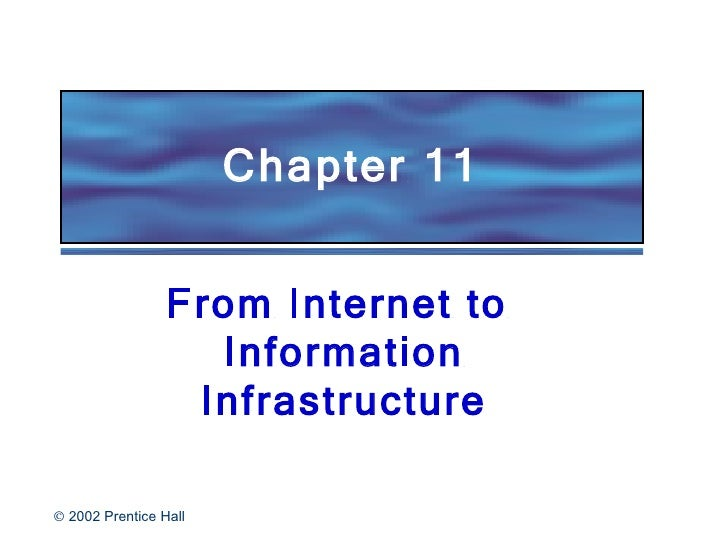 Chapter 11 From Internet to  Information Infrastructure